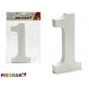 ingrosso Articoli da Regalo & Cartoleria: numero 1 legno bianco 1,8x15cm