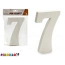 numero 7 legno bianco 1,8x15cm