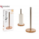 kleiner rundstahl- und bambusständer