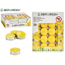 set of 20 tea light citronella candles