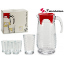 wholesale Drinking Glasses: set of 7 pieces habitat jug 1650cc glasses