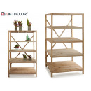Display 5 wooden shelves wood color