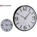 Großhandel Uhren & Wecker: runde Uhr 32cm glatt sortiert weiß schwarz