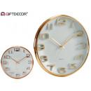 wholesale Clocks & Alarm Clocks: round watch 33cm relief assorted dor cobr