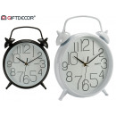 wholesale Home & Living: bell clock 25cm assorted white black