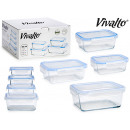 set of 4 rectangular glass lunch boxes