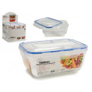 Rectangular lunch box blue cap 2300ml