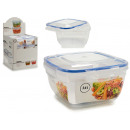 square lunch box blue cap 2400ml