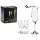 set of 6 imperial champagne glasses decoration 21