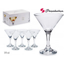 set of 6 martini glasses 19 cl