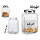 large glass jar square glass lid