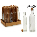 25cl square glass bottle with cap