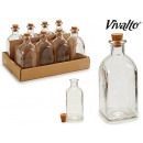 15cl square glass bottle with cap