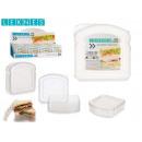 durchsichtiger Kunststoff-Sandwichhalter sortiert