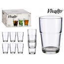 25 cl stackable glass cup