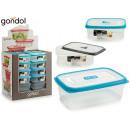 plastic lunch box 1l lid silico abertu 3 times s