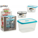 Plastic lunch box 1,7l silicone lid 3 times s