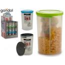 plastic jar 1,5l 3 divisorios 3 times assorted