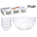 set of 6 stackable glass saucers