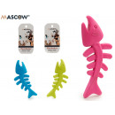 teether silicone fish, colors 3 times its