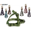 medium striped pet harness, colors 6 times surt