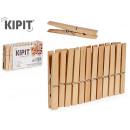 nagyker Háztartás és konyha: készlet 24 ruhacsipesz kis fa clothespins