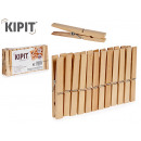 set of 24 medium wood clothespins