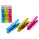 set of 20 clothes clips plastic 3 colors