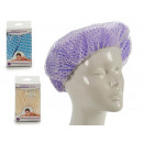 shower cap polyester grid 3 times assorted c
