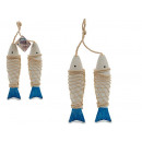 wholesale Pendant: set of 2 grand hanging wooden fish