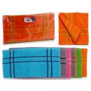 Großhandel Wellness & Massage: Set von 6 Tüchern 50x50 Baumwolle 500g Streifen