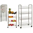Großhandel Kinderfahrzeuge:-Metall Gemüsehändler 4 Etagen mit Rädern