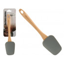 spoon silicone gray handle wood