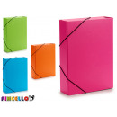 folder with rubber width 7cm colors 4 times assort