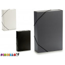 folder with rubber width 7cm colors 3 times assort
