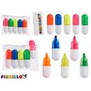 set of 5 fluorescent pens 5 colore case