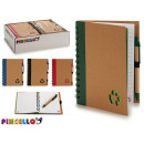 notepad carton recicl and boli 18x14cm 4 times sur