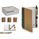 Großhandel Geschenkartikel & Papeterie: notizblock karton recyceln und boli 13x10cm 4 mal