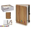 notepad bambu boli and posits 14,5x11cm 2 times su