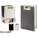folder with clip and rubber a4 colors 3 times asso