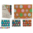 folder with rubbers a4 circles 4 times assorted