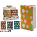 wholesale Booklets & Blocks: hardcover notebook a5 circles 4 times assorted