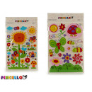 wholesale Artificial Flowers: wall stickers 83x51cm 2 times assorted flowers