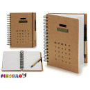 large calculator notebook with pen