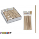 set of 20 round wooden sticks manualid