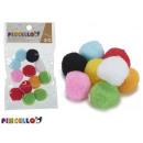 set of 12 colored balls manualid diameter 2,5