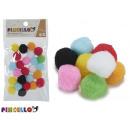 set of 25 balls colors manualid diameter 2cm