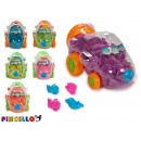 set of magic sand and car molds, colors s