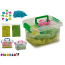 set of magic sand and molds assorted suitcase