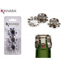 wholesale Toiletries: set of 3 empty metal closure plugs